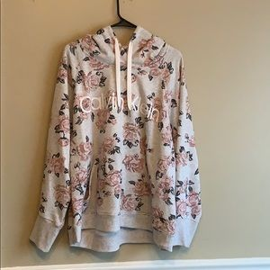 Calvin Klein floral hoodie